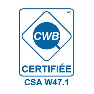 EPP Métal certification csa w47.1