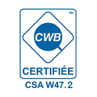 EPP Métal certification csa w47.2